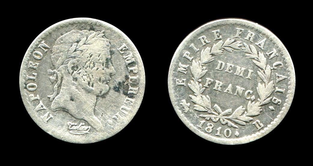 Napoléon Ier demi-franc type Empire_0