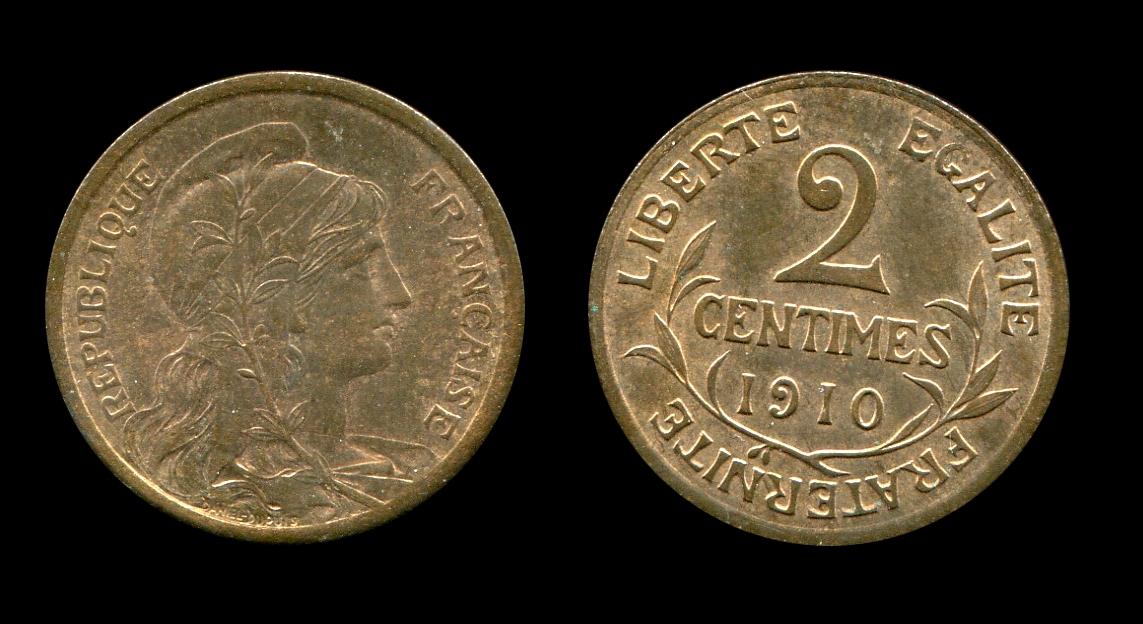 Troisième République deux centimes type Dupuis_0
