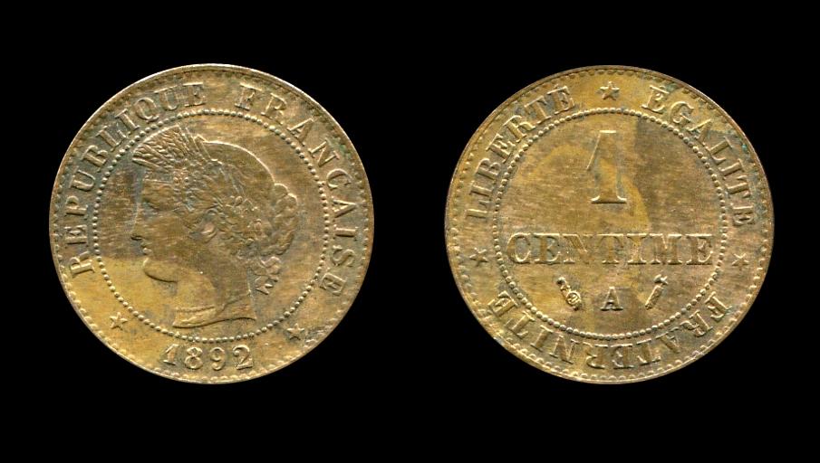 Troisième République un centimes type Cérès_0