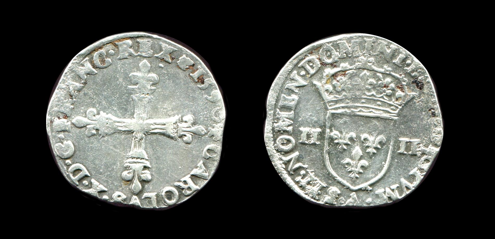 Pièce de monnaie, quart d'écu_0