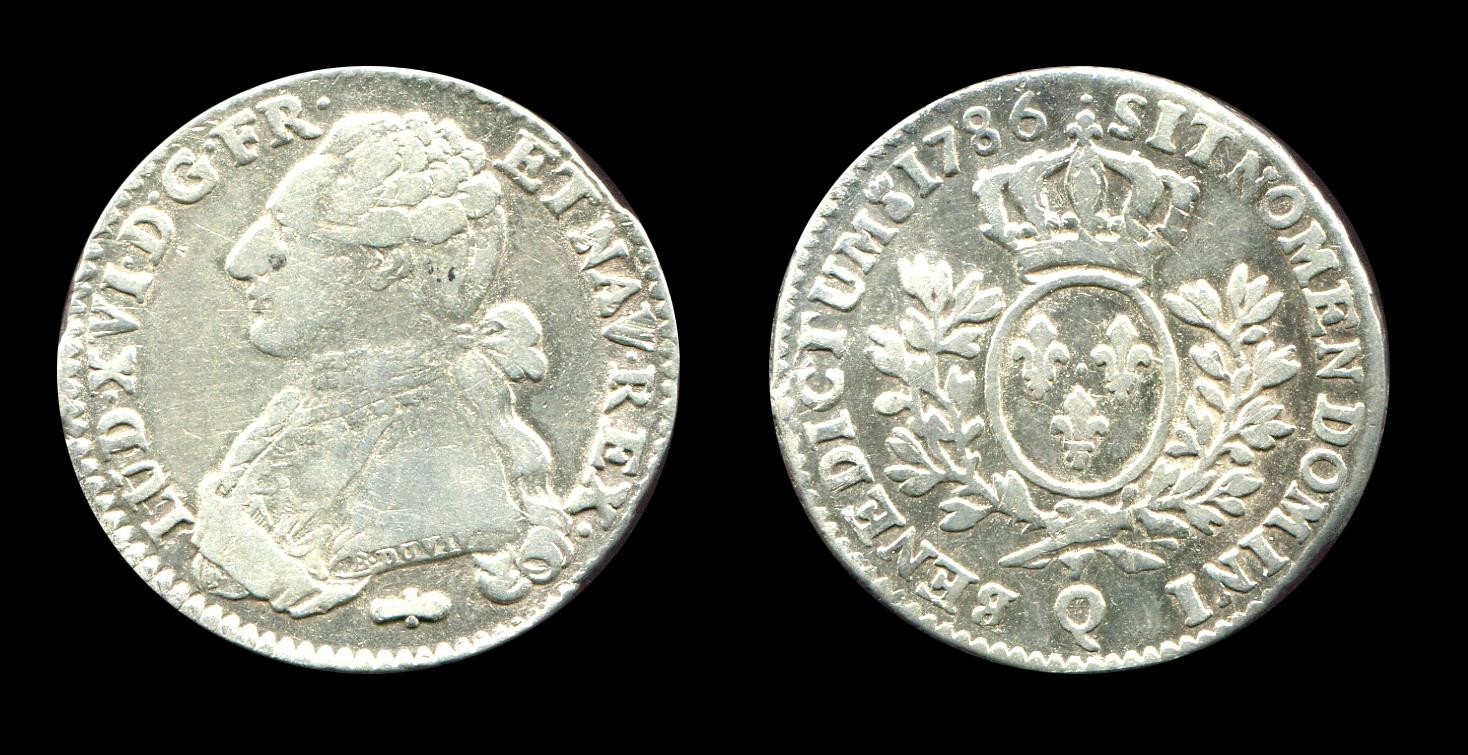 Louis XVI cinquième d'écu type aux rameaux d'olivier_0