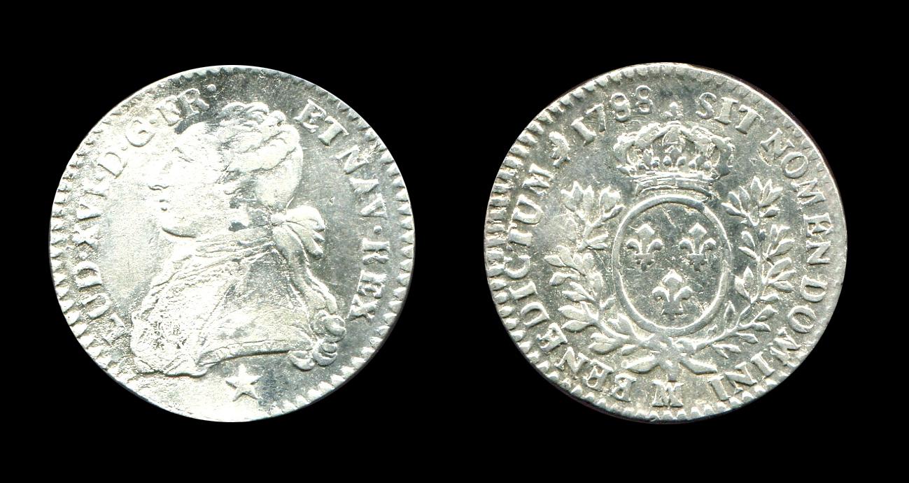 Louis XVI dixième d'écu type aux rameaux d'olivier_0