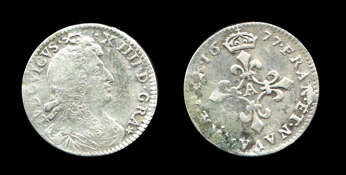 Louis XIV quadruple sol type à la croix fleurdelisée_0