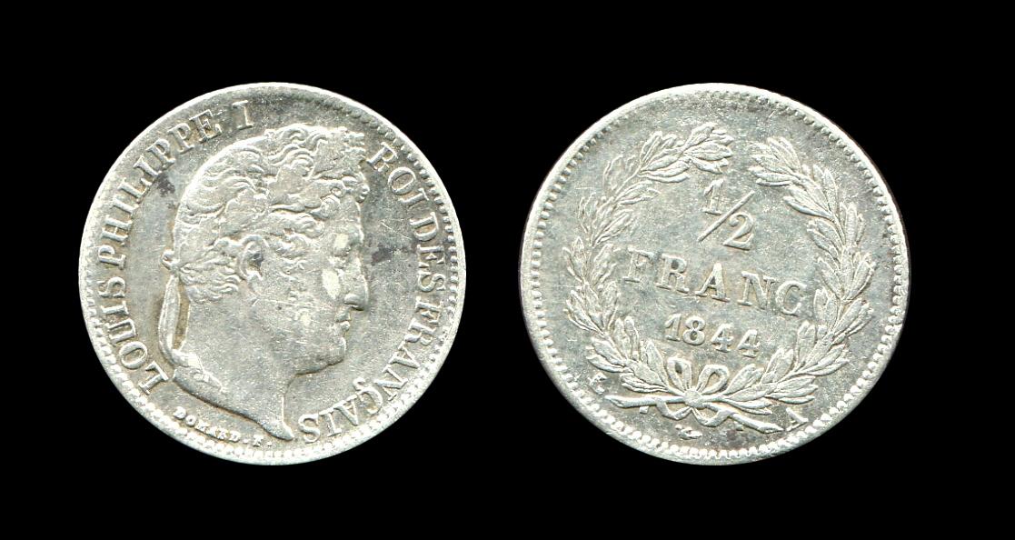 Pièce de monnaie, demi-franc_0