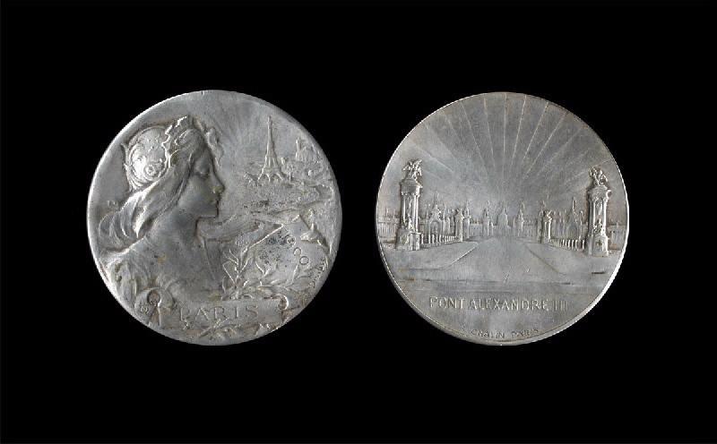CHALIN L (graveur) : Inauguration du pont Alexandre III