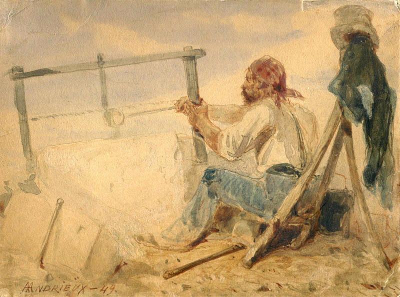 ANDRIEUX Clément Auguste (dessinateur) : Tailleur de pierre