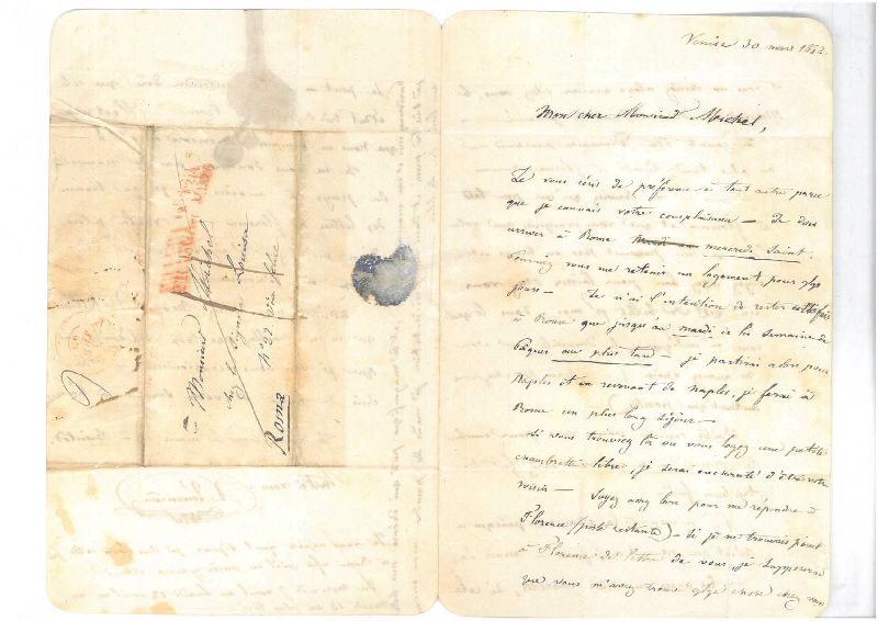 TOURNIERE-BLONDEAU Victor (auteur) : Venise le 30 mars 1852