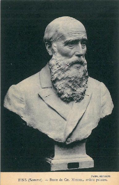 Buste de CH. MICHEL, artiste peintre