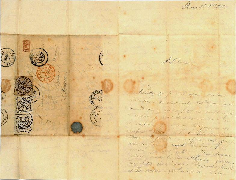 Rome le 25 octobre 1853