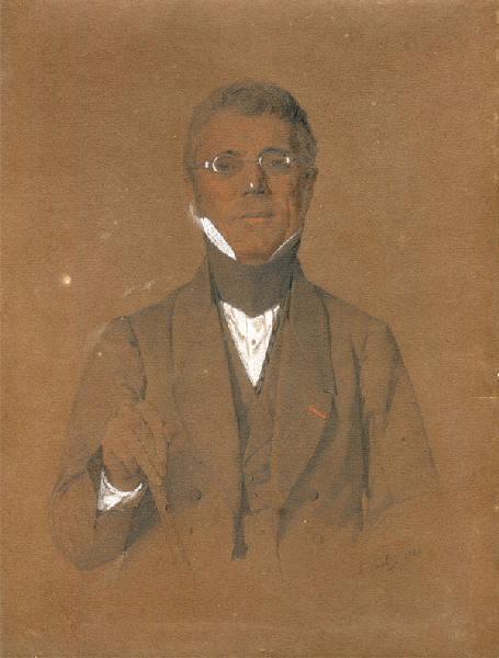 VAUDIEZ E (dessinateur) : Portrait de Nicolas Félix Harlé