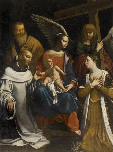 Vierge à l'Enfant avec saint Joseph, saint Bruno et sainte Hélène