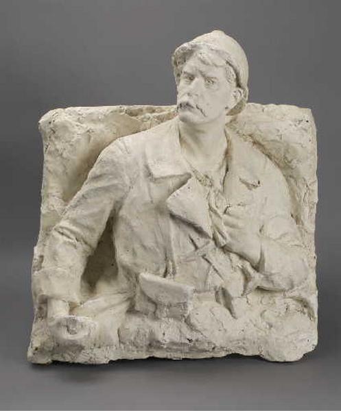Monument aux morts de Marboz (Ain) ; Soldat sortant de la tranchée, 1919 (modèle original)