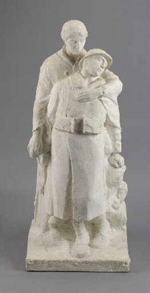 Monument aux morts de Saint-Jean-le-Vieux ; La Vision du foyer_0