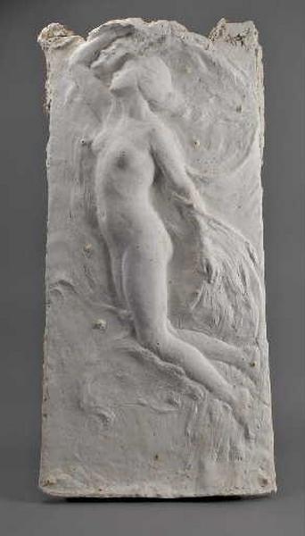 Monument à Jérome Lalande : Figure de l'astronomie soulevant le voile de la nuit