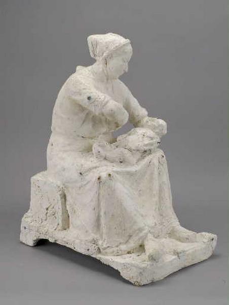 Femme allaitant son enfant