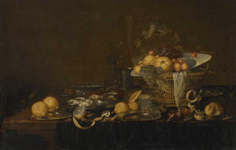 Nature morte aux fruits et aux huîtres_0