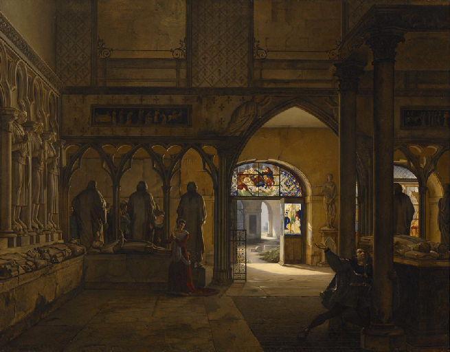 La Folie de Charles VI ; Vue de la salle du XIVe siècle au musée des Monuments Français_0