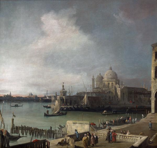 L'Entrée du Grand Canal, avec Santa Maria della Salute et le canal de la Giudecca, vue de l'extrémité occidentale du Môle ; La Pointe de la Dogana avec l'église de La Salute, vue de la jetée (Titre attribué) ; Vue de Venise (Ancien titre)_0