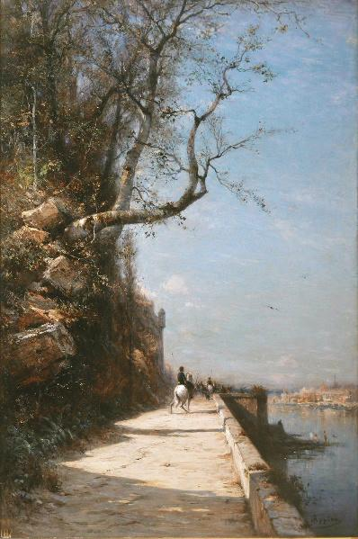 Une route dans les environs de Gênes_0