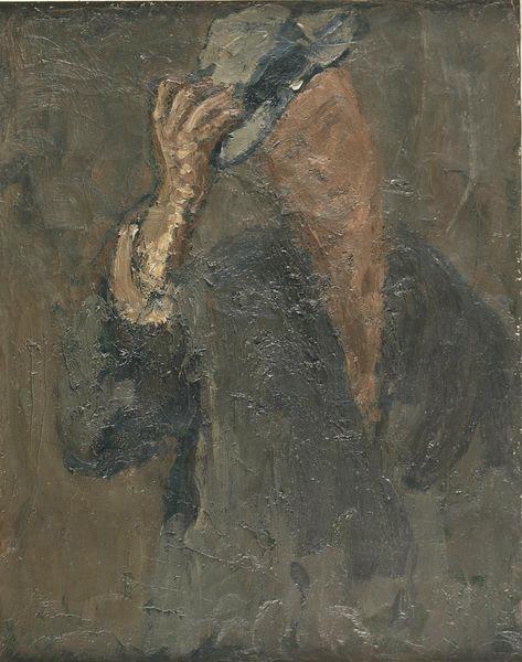 Autoportrait ; L' homme au chapeau_0