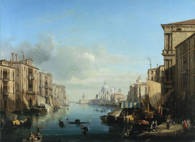 Le grand Canal, à Venise ; Venise, vue du Grand Canal et de la Salute_0