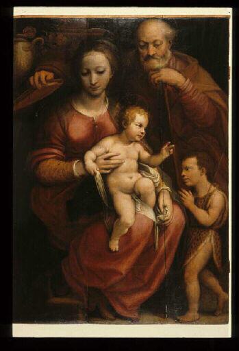 Sainte Famille avec saint Jean Baptiste_0
