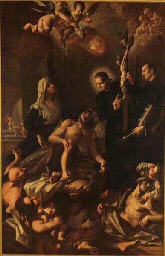 St François Xavier (?) bénissant les pestiférés ; St François Xavier (?) guérissant les malades_0
