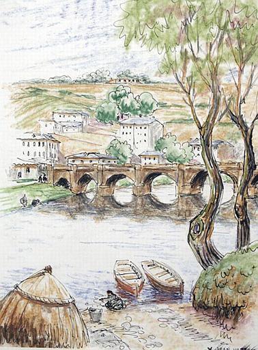 Lugo : le pont sur le Miño (titre inscrit)_0