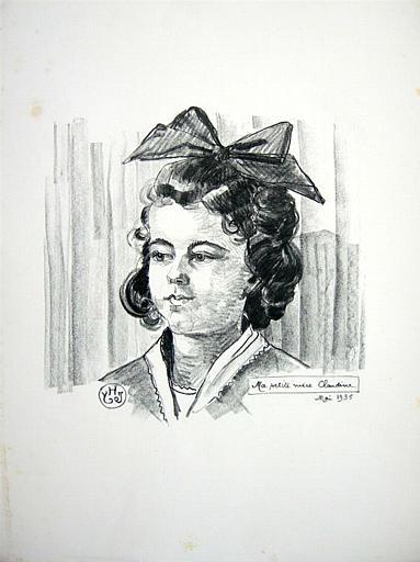 Ma petite nièce Claudine. Mai 1935 (titre inscrit)_0