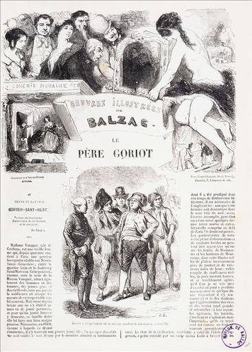 Le Père Goriot (page de titre), édition Maresq_0