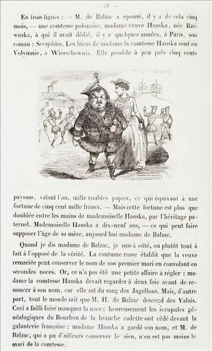 Le Mariage de Balzac, Le Livre des 400 auteurs, page 10 ; #Le Panthéon caricatural des écrivains célèbres, Le Livre des 400 auteurs, page 80_0