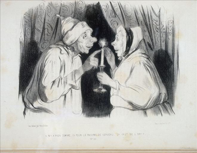 Il n'y a rien comme ça pour le rhume de cerveau, ça vaut de l'or !!!, Le Musée pour rire, dessins par tous les caricaturistes de Paris,  numéro 22, volume 1