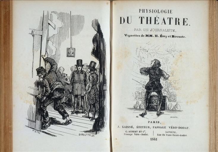 Physiologie du Théâtre, Jules Laisné éditeur_0