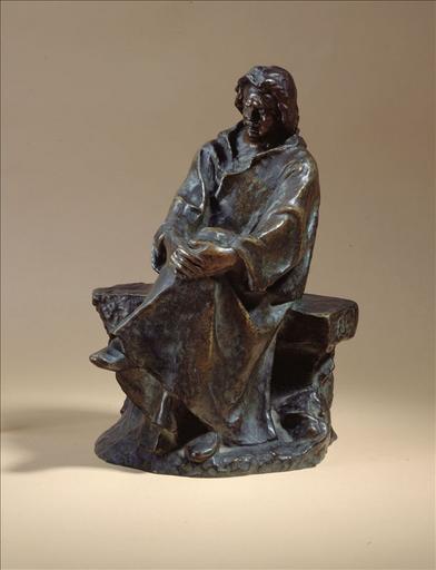 Balzac assis, reproduction réduite de la statue en pierre_0