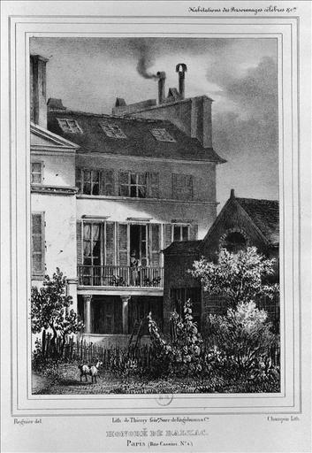 Habitations des personnages célèbres : Honoré de Balzac, rue Cassini, numéro 1_0