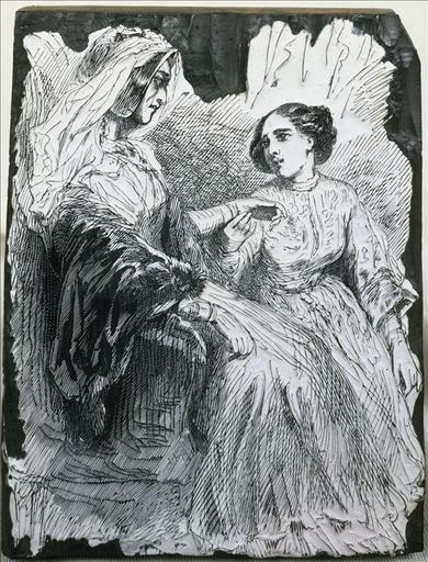 Josépha et la Baronne Hulot dans La Cousine Bette , édition Furne