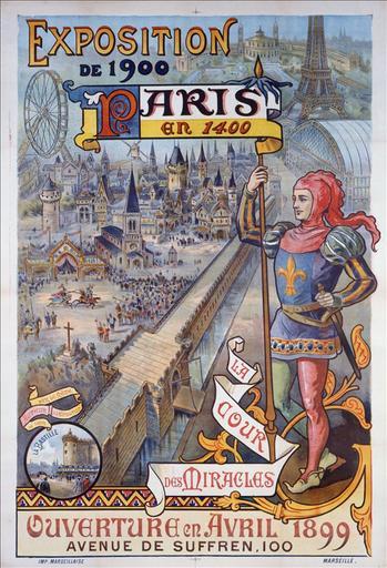 Exposition universelle / de 1900 / Paris / en 1400 / La / Cour / Des Miracles / Ouverture en 1899 / Avenue de Suffren, 100_0