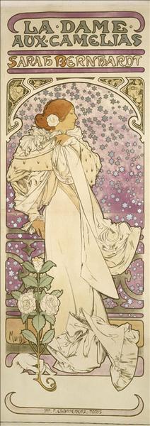 Sarah Bernhardt en Dame aux Camélias_0