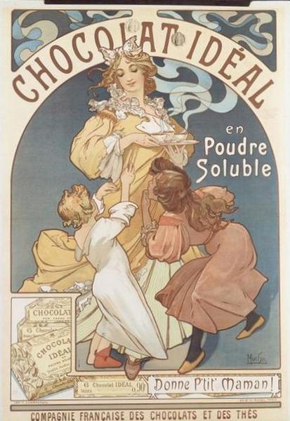 Chocolat Idéal / en / Poudre / Soluble / Donne P'tit' Maman / Compagnie Française Des Chocolats et Des Thés_0