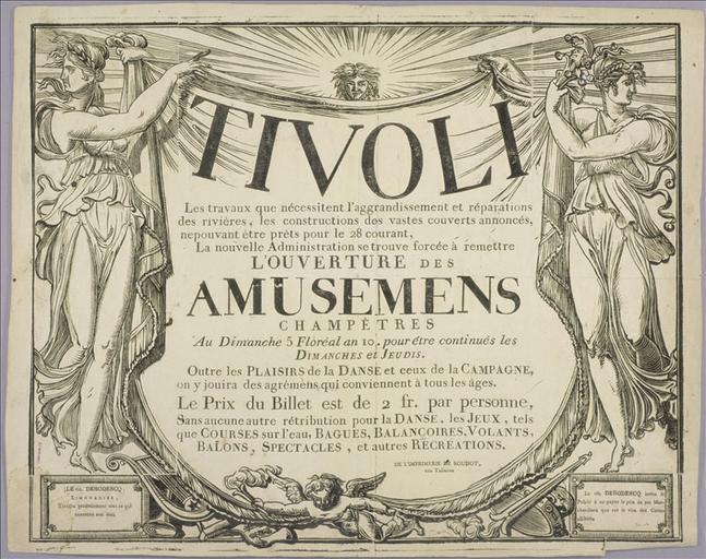 Tivoli / L'Ouverture des Amusemens / Champêtres