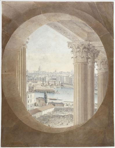 Vue de Paris prise d'un oeil-de-boeuf de la colonnade du Louvre. Actuel 1er arrondissement, Paris_0