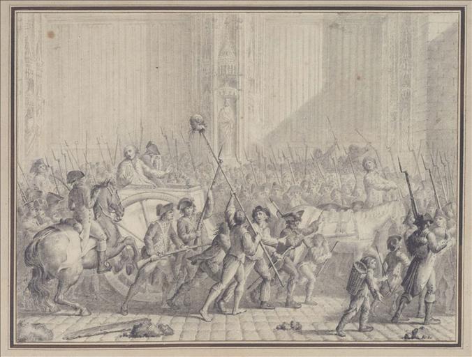 L'intendant Berthier de Sauvigny conduit au supplice reconnaît la tête de Foulon, le 22 juillet 1789_0