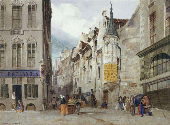 Le carrefour des rue Bailleul et Jean Tison (actuel 1er arrondissement, Paris)