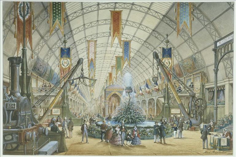 Vue intérieure de la galerie des machines, Exposition universelle (actuel 8ème arrondissement, Paris) [exposition universelle de 1855]_0