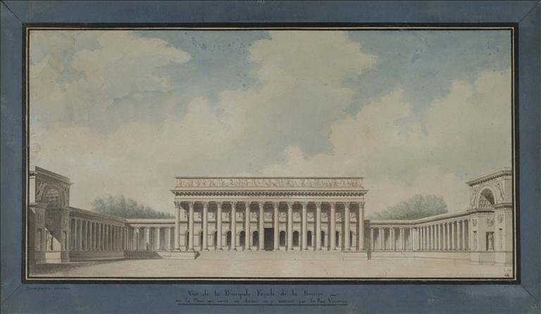 Projet de place devant la Bourse, en 1807 (actuel 2ème arrondissement, Paris)_0