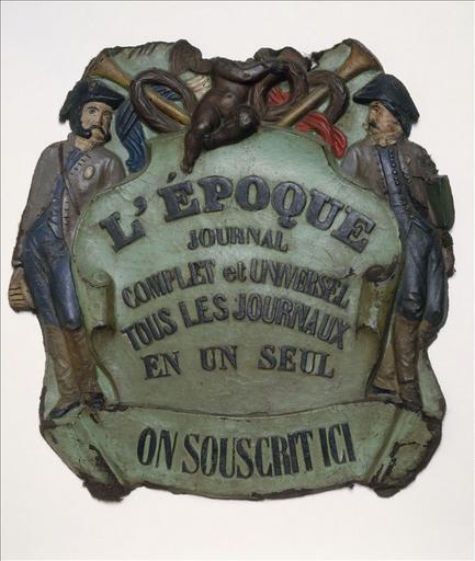 Panonceau du journal 'L'Epoque'_0
