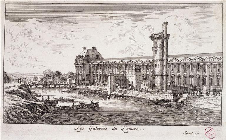 Les galeries du Louvre. Actuel 1er arrondissement, Paris_0