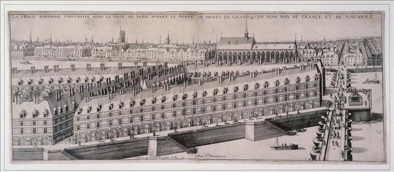 La place Dauphine et le Pont-Neuf (actuel 1er arrondissement, Paris)_0