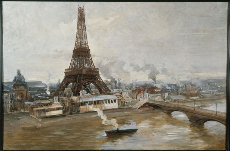 La tour Eiffel et le Champ-de-Mars, en janvier 1889 : les travaux de l' Exposition universelle (actuel 7ème arrondissement, Paris)_0
