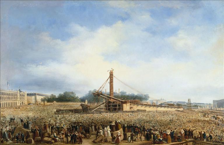 Erection de l'obélisque de Louqsor sur la place de la Concorde, le 25 octobre 1836 (actuel 8ème arrondissement)_0